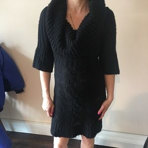 Sexy Turtle Neck Sweater Dress